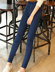 Women's Skinny Jeans Pants,Going out / Casual/Daily Simple Solid Mid Rise Elasticity Others Micro-elastic Fall / Winter