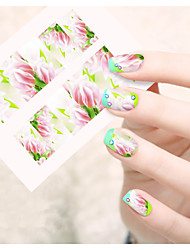 1pcs  Water Transfer Nail Art Stickers Abstract Image Colorful Flower Nail Art Design STZ101-105