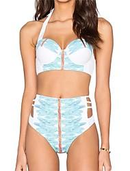 Damen Bikinis - Hochgeschnitten Polyester