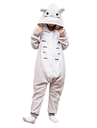 Kids Kigurumi Pajamas Totoro Leotard/Onesie Festival/Holiday Animal Sleepwear Halloween Gray Solid Polar Fleece For Kid Halloween Christmas