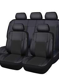 PU-Leder 5 Sitzbezüge in voller schwarz passend für die meisten Autos zt-0012-10