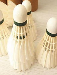 Badminton BallesPlume d'oie) -Faible résistance de l'air Haute résistance Haute élasticité Durable