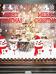 Christmas Commodities Snow Background Adornment Wall Stick The Window Glass