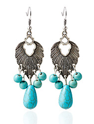 Earring Turquoise Drop Earrings Jewelry Women Wedding / Party / Casual Turquoise 1 pair Pool