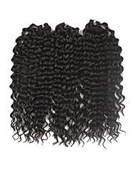 Deep Twist Pre-loop Crochet Medium Brown Hair Braids 16Inch Kanekalon 203g 1 Pack For a Full Head Synthetic Hair Extensions