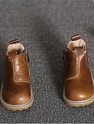 Boy's Boots Comfort Cowhide Casual Black Brown Khaki
