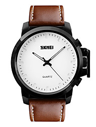 Skmei® Men's Large Dial Lether Strap Wrist Watch 30m Waterproof Assorted Colors