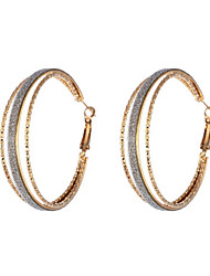 Hoop Earrings Jewelry Alloy Gold Jewelry Daily Casual 1 pair