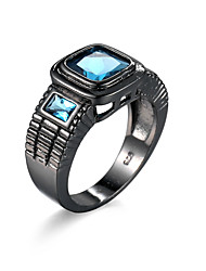 Ring AAA Cubic Zirconia Alloy Simulated Diamond Light Blue Jewelry Casual 1pc