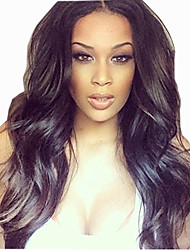 Middle Part  Body Wave Brazilian Virgin Human Hair Lace Front Wigs for Black Women Natural Color 130% Density