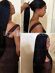 """8 """"-26"""" cabelo virgem reta glueless peruca cheia do brasileiro com o cabelo do bebê para as mulheres negras"""