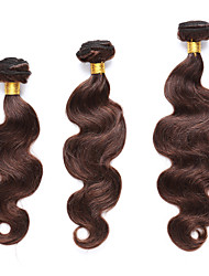 3 Bundles TRES JOLIE Body Wave 100% Human Hair 10-20Inch Medium Brown Human Hair Weaves