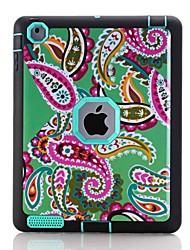 Для Вода / Грязь / Надежная защита от повреждений С узором Кейс для Чехол Кейс для Цветы Твердый TPU для Apple iPad 4/3/2