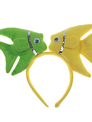 Headpiece Inspired by Cosplay Cosplay Anime Cosplay Accessories Headpiece Yellow / Green Cotton Male / Female / Kid