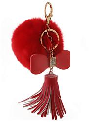 Key Chain Sphere Key Chain Red Metal / Plush