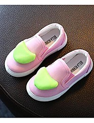 Girl's Loafers & Slip-Ons Comfort Canvas Casual Pink White