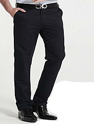 Masculino chinoiserie Cintura Média Micro-Elástica Chinos Calças,Solto Sólido