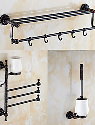 A Set of Three Products(Towel Warmer/Towel Bar/Toothbrush Holder/Soap Dishes/Toilet Brush Holder)Oil Rubbed Bronze