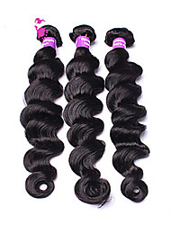 Loose Wave Human Hair Weaves Brazilian Texture 300 8-30 Human Hair Extensions