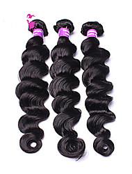 Loose Wave Human Hair Weaves Brazilian Texture 300 8-30 Human Hair Extensions