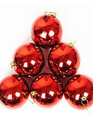 Christmas Decorations / Christmas Tree Ornaments Holiday Supplies Spherical Plastic/12Pcs