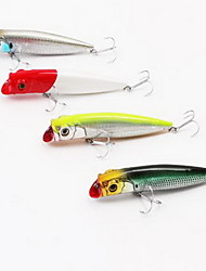 1 pcs Popper Hard Bait Fishing Lures Hard Bait Random Colors Hard Plastic Sea Fishing