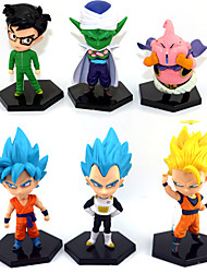 Figures Anime Action Inspiré par Dragon Ball Goku Anime Accessoires de Cosplay figure Jaune PVC