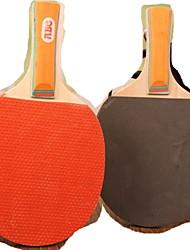 Table Tennis Rackets Wood Long Handle Pimples 2 Rackets 3 Table Tennis Balls Indoor-#