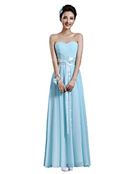 Ankle-length Chiffon Mix & Match Sets Bridesmaid Dress - A-line Strapless with