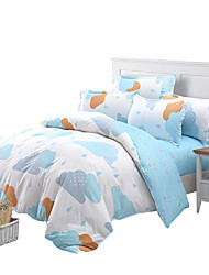Mingjie Blue Clouds Bedding Sets 4PCS for Twin Full QueenSize from China Contian 1 Duvet Cover 1 Flatsheet 2 Pillowcases