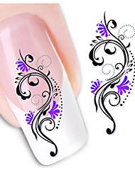 1sheet  Water Transfer Nail Art Sticker Decal XF1443