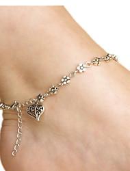 Femme Bracelet de cheville/Bracelet Alliage Amour Forme de Coeur Bijoux Pour Quotidien