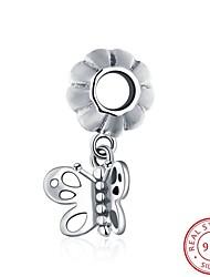 европейские и американские популярные ювелирные изделия стерлингового серебра 925 кулон висит браслет - аксессуары форма бабочки