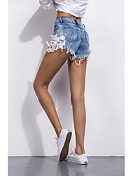 Les modèles d'explosion amazon ebay de dentelle sexy couture short en jean sexy de style européen et américain short