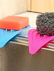 1Pcs 14Cm*8Cm Multi-Purpose Creative Kitchen Sponges And Bathroom Shaped Waterlogging Caused By Excessive Rainfall Device  Random  Color