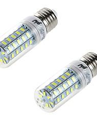 4W E26/E27 LED Mais-Birnen T 48 SMD 5730 250 lm Warmes Weiß Dekorativ AC 220-240 V 2 Stück