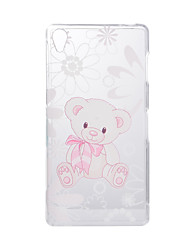 For SONY Xperia Z5 Z3 Case Cover Cartoon Bear Pattern Back Cover Soft TPU