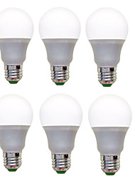12W E26/E27 Ampoules Globe LED A60(A19) 12 SMD 2835 1200 lm Blanc Chaud Blanc Froid Décorative AC 100-240 V 6 pièces