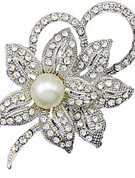 Women's Brooches Pearl Simulated Diamond Jewelry Daily