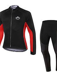 WOLFKEI Spring/Summer/Autumn Long Sleeve Cycling JerseyLong Tights Ropa Ciclismo Cycling Clothing Suits #WK58