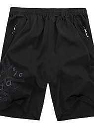 Running Shorts Men's Breathable / Quick Dry / Comfortable Bamboo-carbon Fiber Exercise & Fitness / Running Sports LooseIndoor / Outdoor