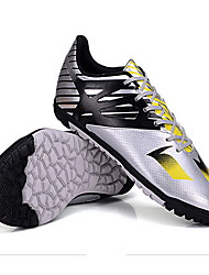 Soccer Shoes Kid's Anti-Slip Anti-Shake/Damping Wearproof Breathable Outdoor Low-Top PVC Leather Soccer/Football Black Silver Yellow Blue