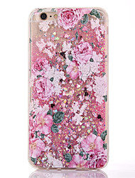For Apple iPhone 7 7Plus 6S 6Plus Case Cover Peony Pattern TPU Soft Edge of The Sand Flashing Mobile Phone Shell