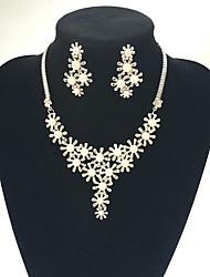 Schmuck 1 Halskette / 1 Paar Ohrringe Hochzeit / Party 1 Set Damen Weiß / Goldgelb Hochzeitsgeschenke