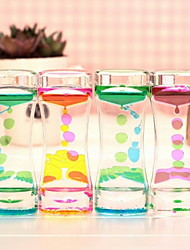 Double Color Oil Dripping Dynamic Oil Leakage Hourglass Home Birthday Gift(Ramdon Color)