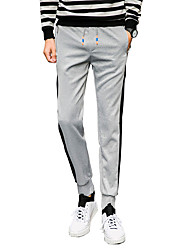 Men's Plus Size Slim / Skinny Chinos / Sweatpants Pants,Casual/Daily / Club / Sports Vintage / Simple / Street chic Solid / Print Low Rise