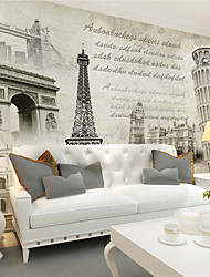 JAMMORY Art Deco Wallpaper Retro Wall Covering,Canvas Large Mural Old Black and White Photographs