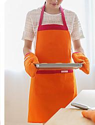 Solid Patchwork Apron  Linen / Cotton Blend Material Table Decoration 1pc/set  2 Colors (Orange Blue)