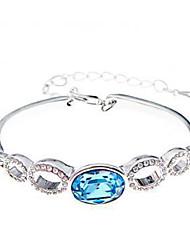 Feminino Bracelete Cristal Liga Personalizado Estilo simples Moda Jóias Jóias 1peça