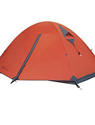 MOBI GARDEN® 2 personnes Tente Double Une pièce Tente de camping Aluminium Silicone ToileRésistant à l'humidité Respirabilité Bonne